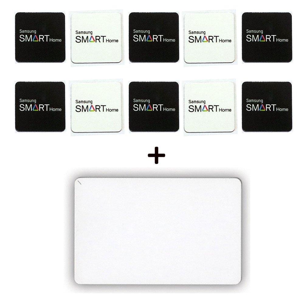 10pcs Genuine SAMSUNG EZON Digital Door Lock Sticky Key Tag + 1pcs RFID Card 13.56MHz RFID ISO14443 A Type for SHS-2320 SHS-2920 SHS-2621 SHS-6600 SHS-6601 SHS-6020 SHS-5120 SHS-P710 SHS-P810 SHS-P910SHS-D500 SHS-G510 SHS-1320 SHS-1321 SHS-3120 SHS-3320 S