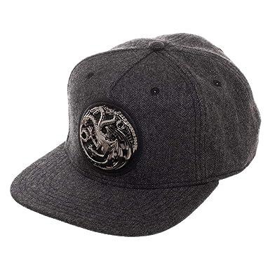 4bb97d10af93b bioworld Game of Thrones House Targaryen Harringbone Metal Badge Snapback  Hat