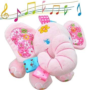 Amazon Com V Convey Music Bed Time Elephant Stuffed Animal Toys