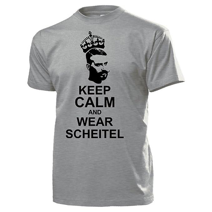 Keep Calm And Wear Scheitel Seitenscheitel Männer Frisur Humor Fun