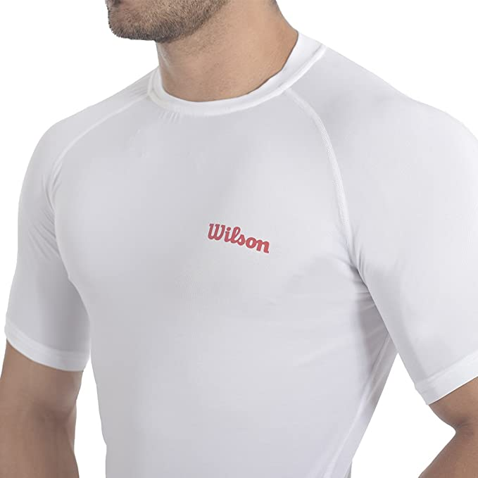Wilson Playera Running- Cuello Redondo Color Blanco Talla Xg   Amazon.com.mx  Ropa 551aa75e96024