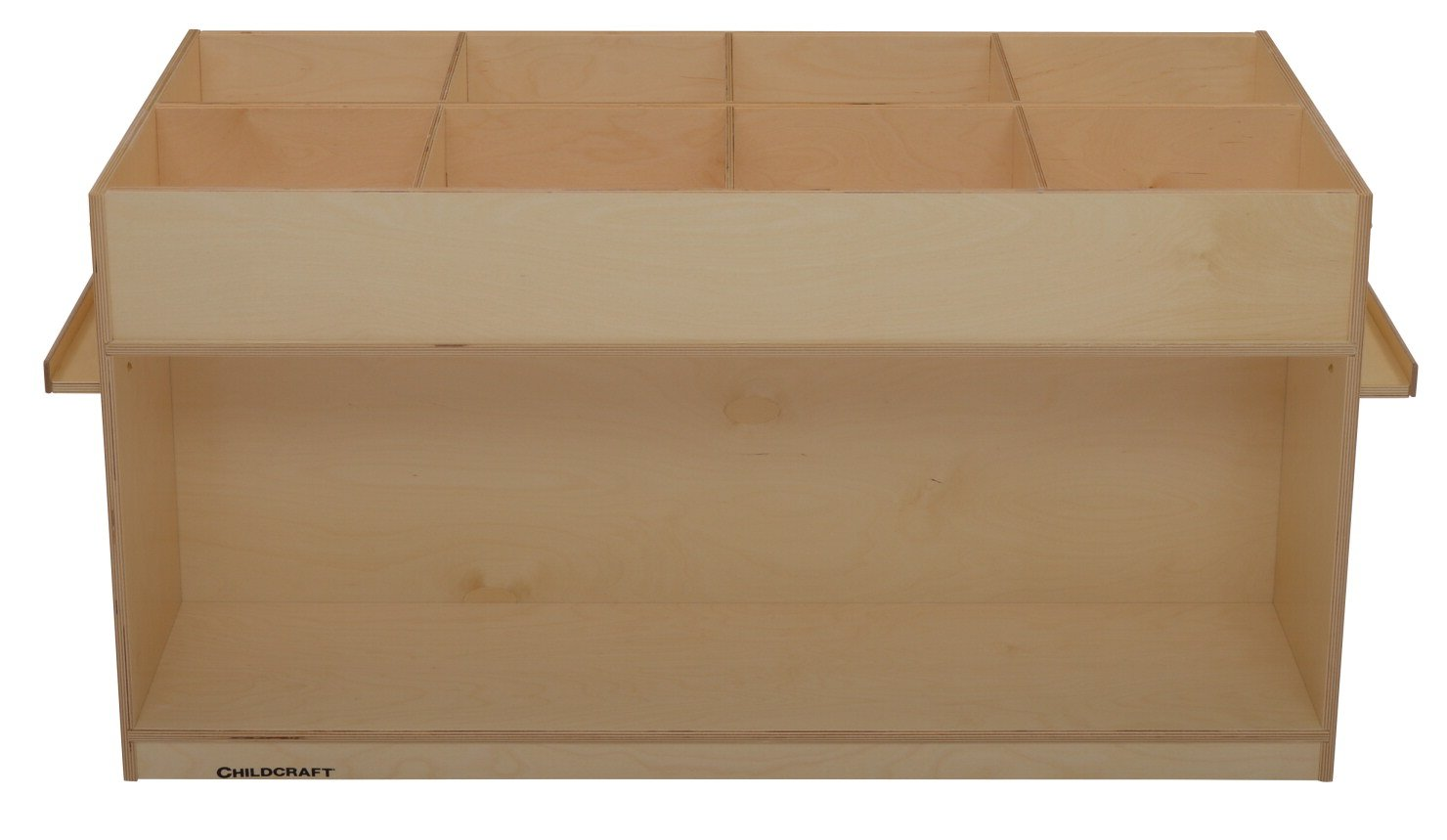 Childcraft 071912 Double Sided Mobile Book Center, Birch Veneer Panel, Acrylic, 52-3/4'' x 23-1/4'' x 25-5/8'', Natural Wood Tone