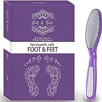 Foot Peel Mask With Foot File l Exfoliating Foot Peel Mask l Baby Feet Peel Foot Mask, Foot Exfoliator Feet Peeling Mask…