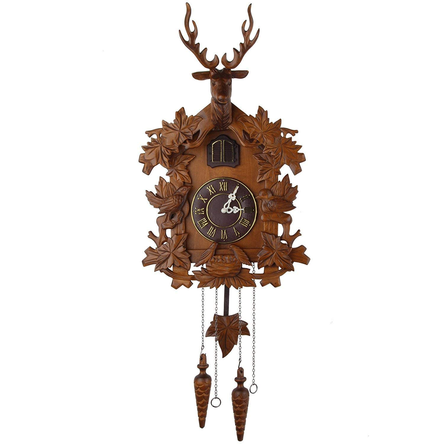 Kendal Large Handcrafted Wood Cuckoo Grandfather Clocks