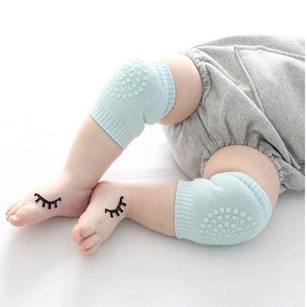 Rosa Blau Schwarz Baby Kniebandage verstellbarer elastischer Kinder Knieschoner Knie Sleeve Baby Kniesch/ützer anti-Rutsch Knie Schutz Kniegelenkbandage 8-36 Monate atmunsaktiv 3 Paare
