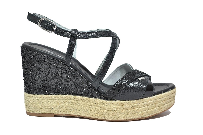 NERO GIARDINI Sandali zeppa nero 7691 scarpe donna mod. P717691D