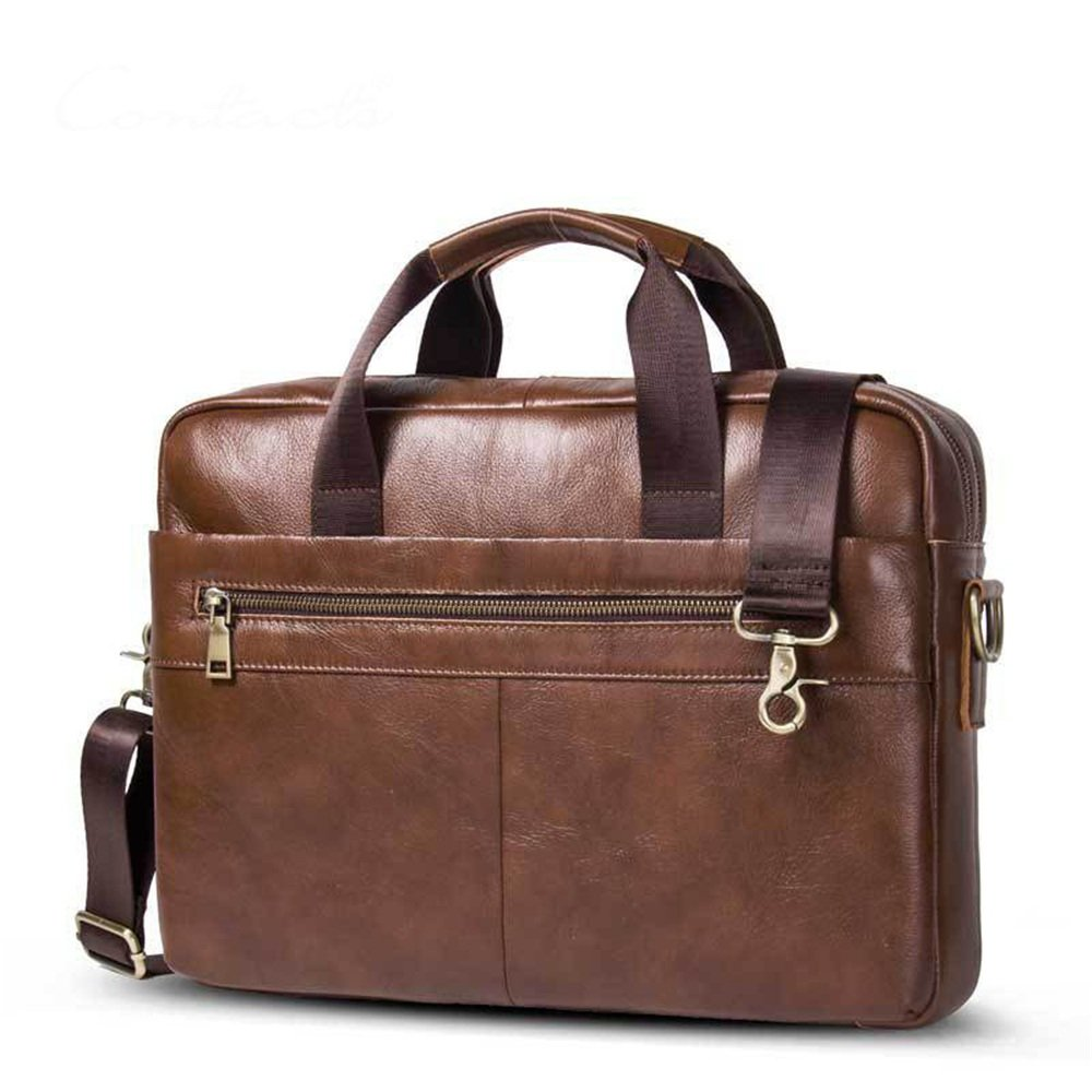 Business Briefcase 15 Notebook Tote Shoulder Messenger Bag Messenger Bag Casual Tote Color : Coffee Color