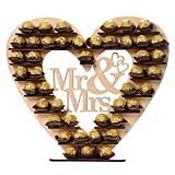 Yamalans Elegant Wooden Chocolate Holder DIY Mr Mrs Heart Shelf Wedding Party Ornament Decors