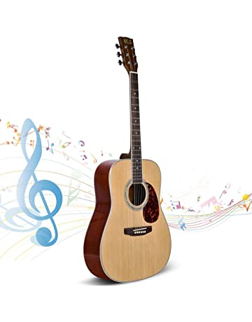 26734269ec7 Beginner Guitar, Lico 41 Inch Acoustic Guitar Starter Pack with Gig Bag,  Tuner,