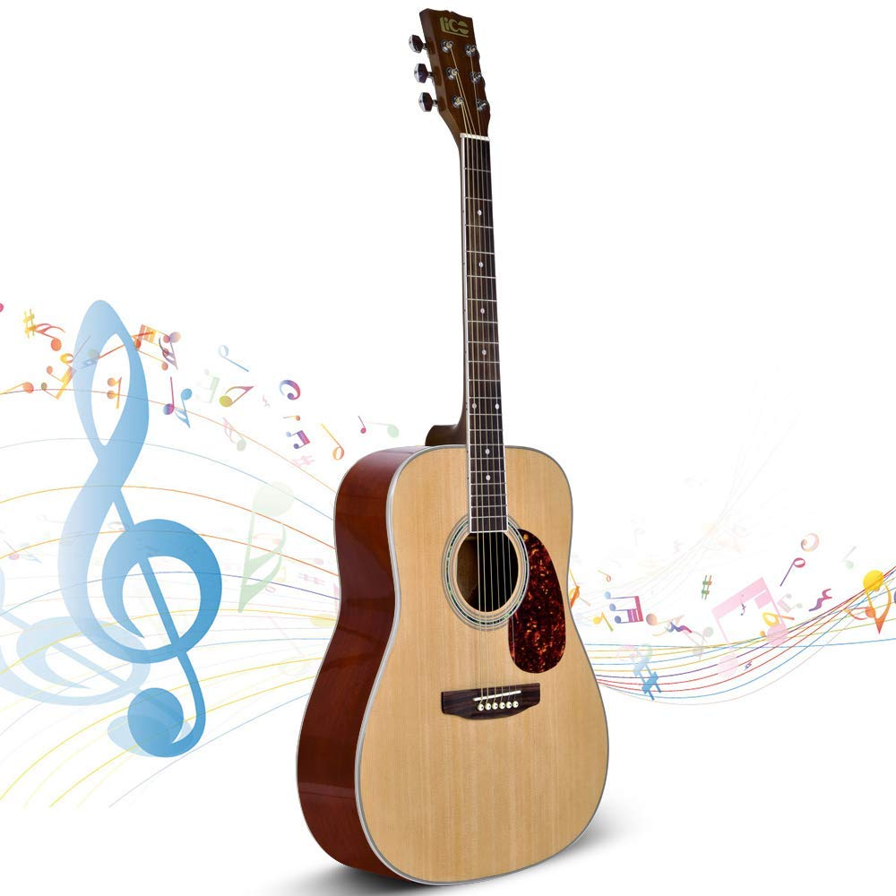 Beginner Guitar, Lico 41 Inch Acoustic Guitar Starter Pack with Gig Bag, Tuner, Strings, Strap, 6 String Classical Guitar Beginner Kits by Lico (Image #1)