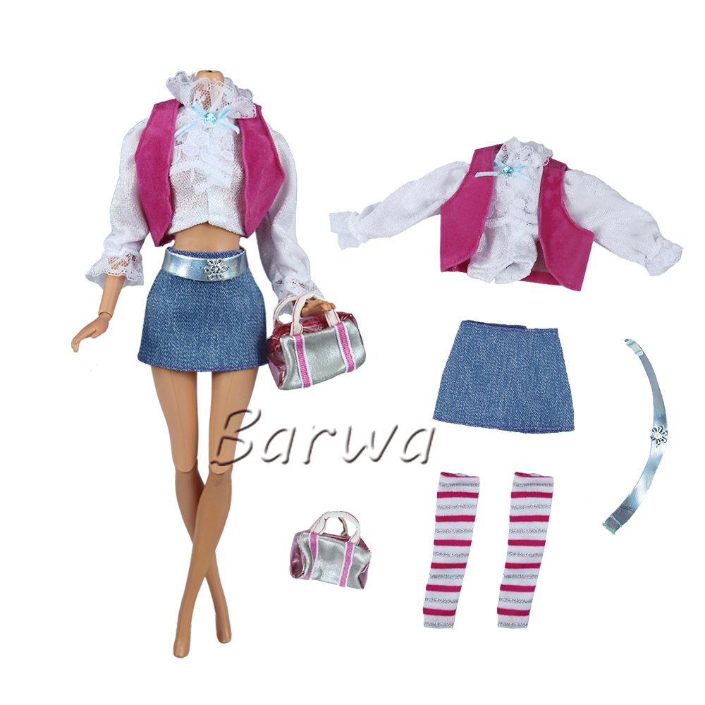 475fdccbef78f Handmade fashion style doll clothes set, all the items and material are  triple checked for sewing quality. Package Included: 1 set clothes outfit  ...