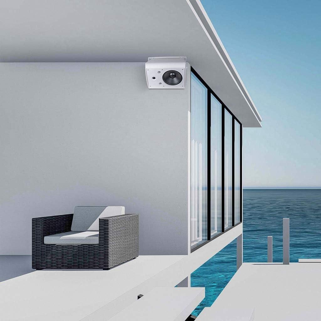 AP640 6.5-Inch 150W 2-Way Indoor//Outdoor Weather-Resistant Patio Speakers Pair, White OSD Audio