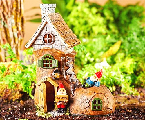 Mini Dollhouse FAIRY GARDEN Accessories - Solar Powered Light Up Shoe House - Supplies Acc... by My New Fairy Miniature Expressions