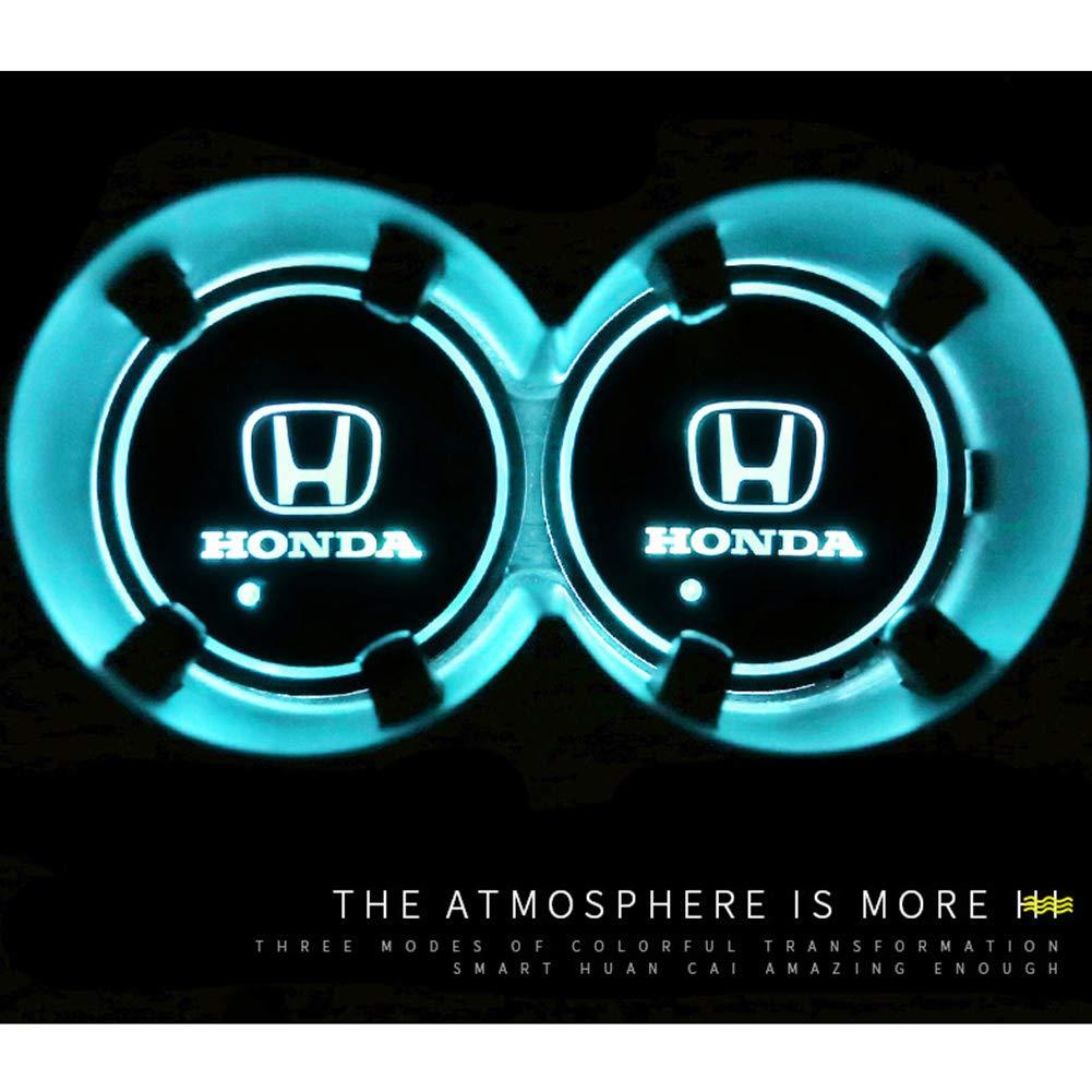 2 Posavasos con Logotipo de Coche con luz LED 7 Colores cambiantes Weesey Impermeable 2 Unidades Audi