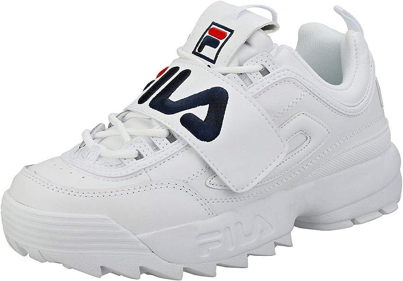 Fila Disruptor II Premium Mujer Zapatillas Blanco: Amazon.es ...