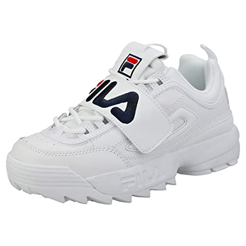Fila Strap Disruptor 2 Mujeres Zapatillas White Navy Red - 8 UK - 42 EU: Amazon.es: Zapatos y complementos