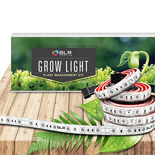 SLR Lighting LED Grow Light Five 20 Inch Strips Kit for Plants Indoor Gardens, Closets, Greenhouses, Vegetables, Herbs, & Flowers with 250 Red & 50 Blue for Hydroponics and Horticulture [No Plug] - Strip Light Hanging