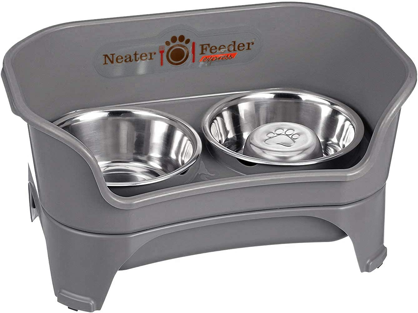 Neater Feeder Express Elevated Dog and Cat Bowls - Raised Pet Dish - Stainless Steel Food and Water Bowls for Small to Large Dogs and Cats