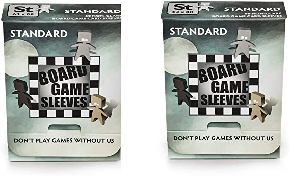 2 Packs Arcane Tinmen Non-Glare Board Game Sleeves 50 ct Standard Size Card Sleeves Individual Pack