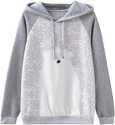 Womens Tops,Kulywon Women Solid Sweatshirt Long Sleeve Blouse Hooded Pocket Pullover Tops Shirt