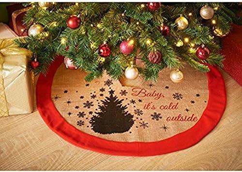 Faldón de yute para el árbol de Navidad: Amazon.es: Hogar
