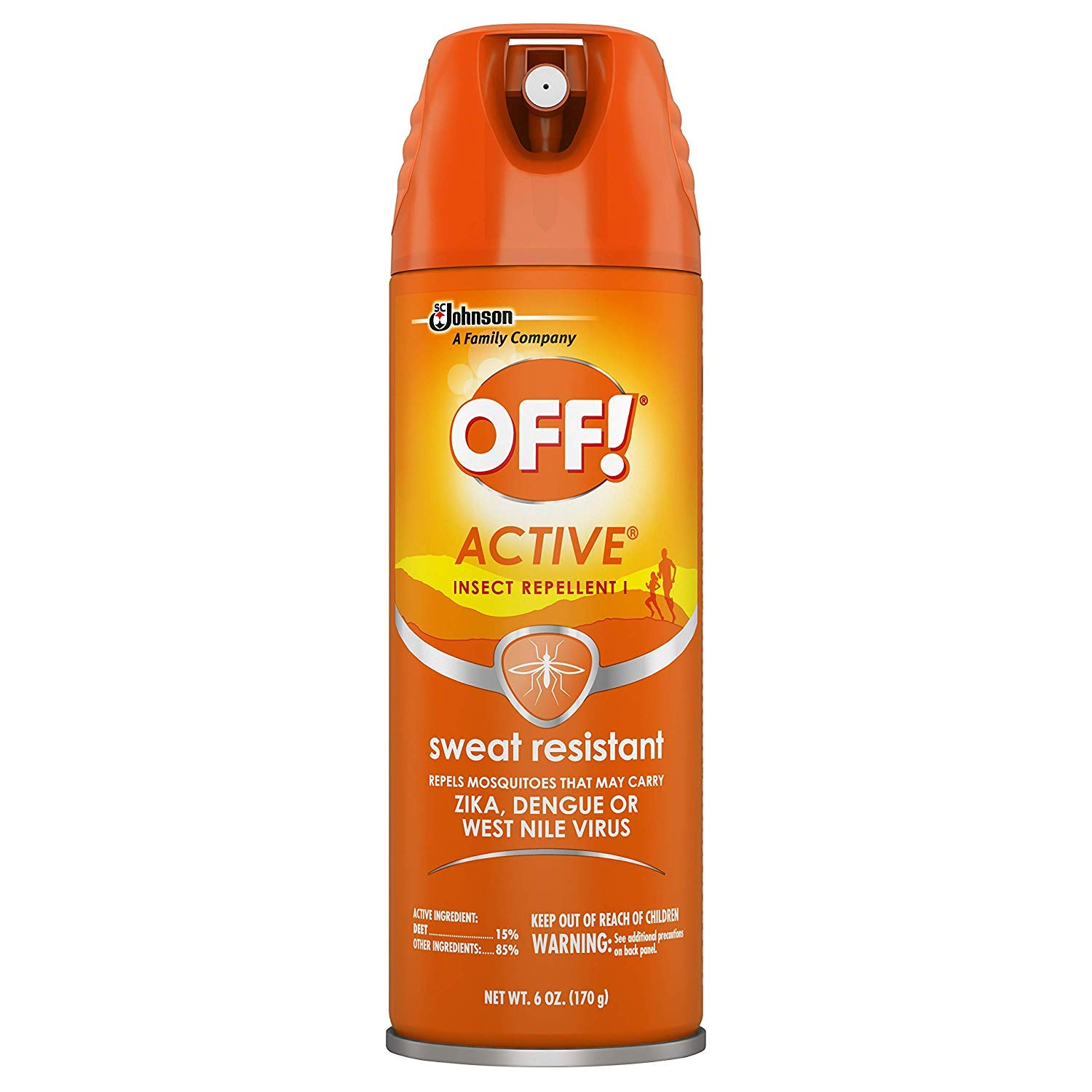 OFF! Active Insect Repellent, Sweat Resistant 6 OZ (Pack - 6) by OFF!