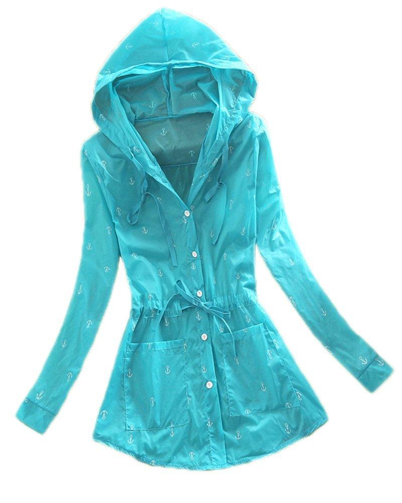LifeWheel Ultrathin Beach Clothes Anti-UV Coat Outdoor Sun Protection Clothing(Large,Blue)