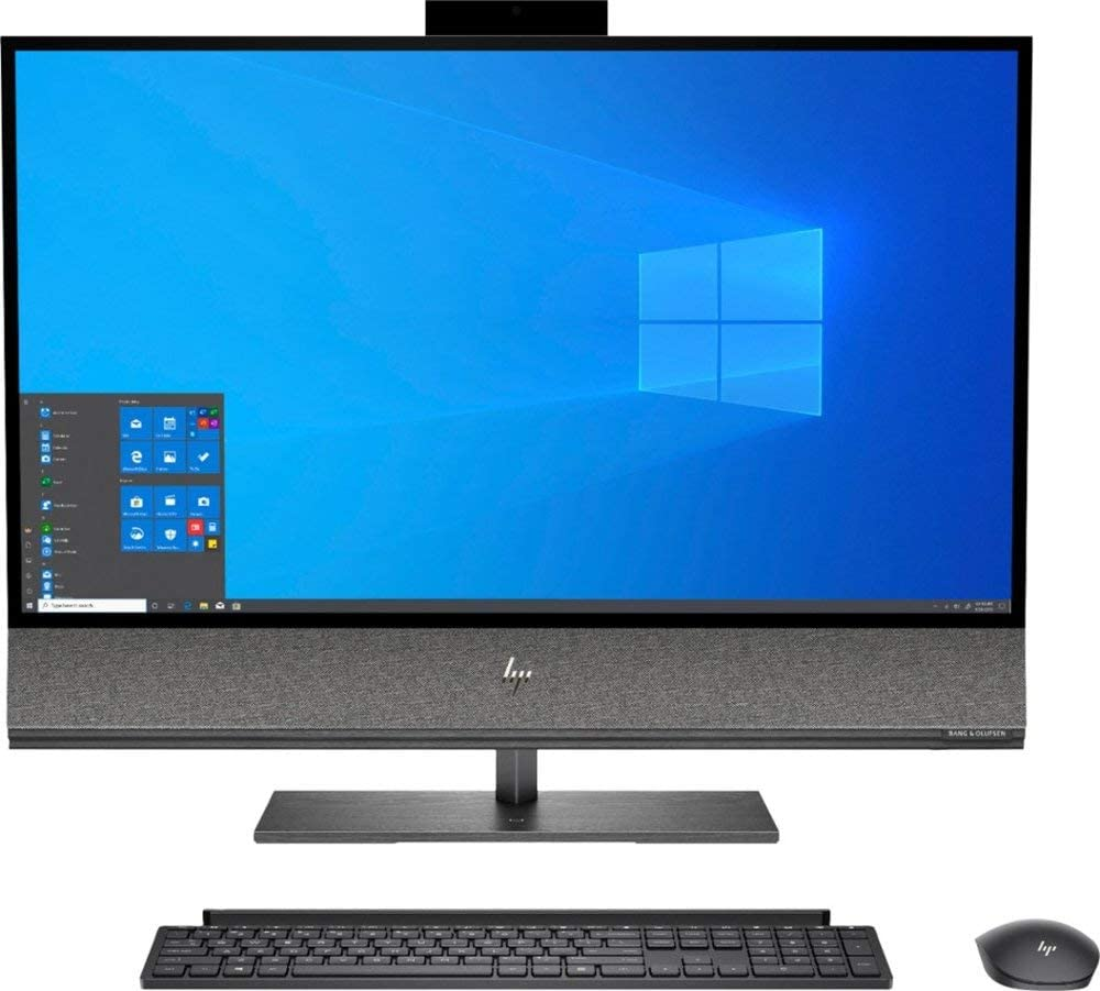 "HP Envy 32 Desktop 2TB SSD 32GB RAM (Intel 9th Generation Processor with Turbo Boost to 4.10GHz, 32 GB RAM, 2 TB SSD, 32"" 4K UHD (3840 x 2160), Win 10) PC Computer All-in-One"