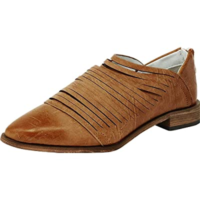 ARIDER Women's Alana Oxford Classic Fashion Low Heel Carving Dress Shoes | Oxfords