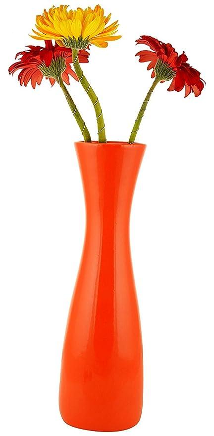 Buy Woodenclaveorange Ceramic Flower Vase Sleek Flower Vase For Home