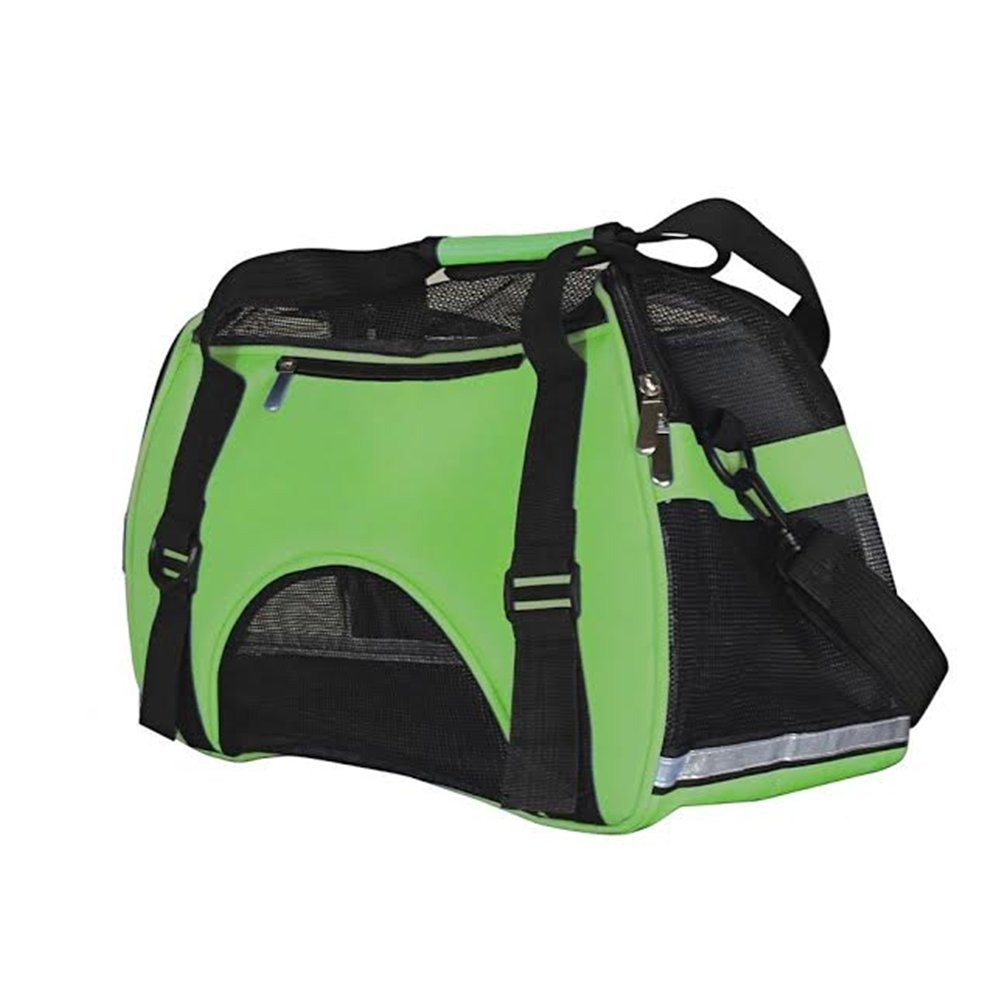 """IrisPets Pet Airline Travel Approved Airport Pet Carrier, Soft Sided Portable Folding Under Seat Air Travel Pet Carriers Bag for Dogs/Cats Small Animals - 2018 Newly Designed (19""""L *9.5""""W *12""""H) Green"""