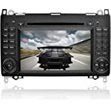 YINUO 7 Inch 2 Din Capacitive Touch Screen Car Stereo DVD Player Sat Nav In Dash GPS Navigation Bluetooth Autoradio for Mercedes-Benz A-class W169 (2004-2012)/ Mercedes-Benz B-class W245 (2004-2012) / Mercedes-Benz Viano/Vito(W639) (2006-2016)/ Mercedes-Benz Sprinter W906/W209/W311/W315/W318 (2006-2016)