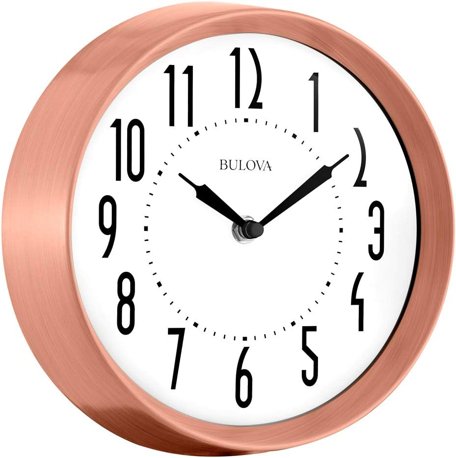Bulova C4828 Cleaver Wall Clock, Copper Finish