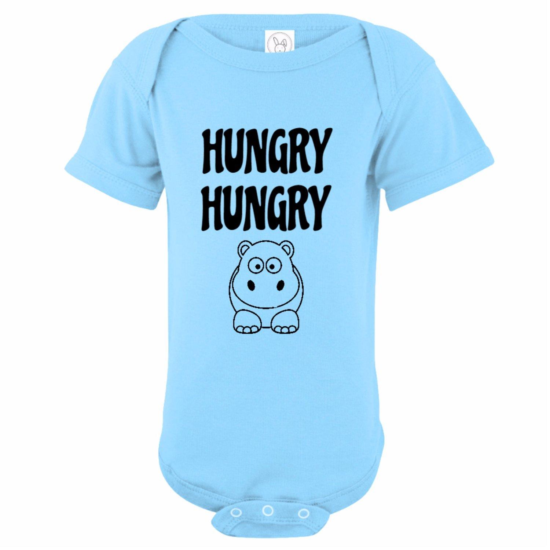 a58b6604b Amazon.com  U.S. Custom Kids Hungry Hungry Hippo Baby Onesie  Clothing