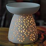 myonly Ceramic Tea Light Holder, Aromatherapy Essential Oil Warmer Burner Candle Holder Furnace Diffuser Home Decorative for Spa Yoga Meditation