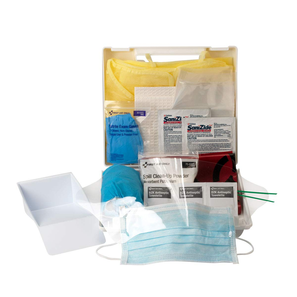 First Aid Only Bloodborne Pathogen/Bodily Fluid Spill Clean Up Kit (214-U/FAO): Blood Bourne Pathogens Kit: Industrial & Scientific
