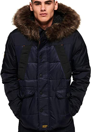 Superdry Amazon Chinook Jacket co uk Clothing Navy FqrFU