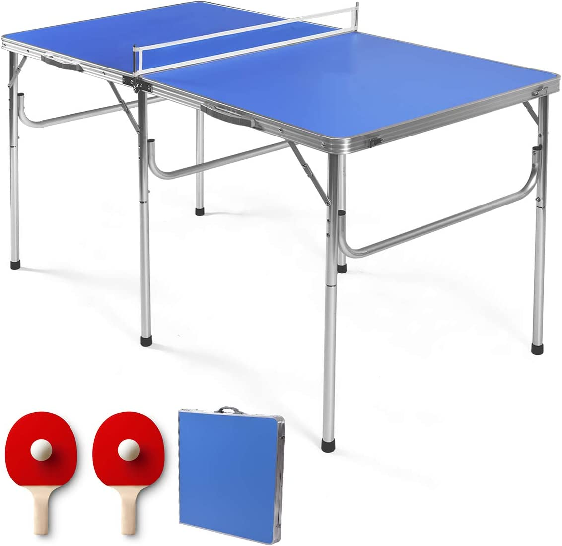 Portable Table Tennis Ping Pong Net Post Clamp Stand Foldable Rack Mesh S8H3