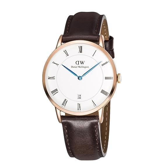 Daniel Wellington Reloj Analógico para Hombre de Cuarzo con Correa en Cuero DW00100086: Daniel Wellington: Amazon.es: Relojes