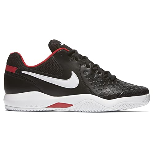 00763ba3916e Nike Men s AIR Zoom Resistance Black White-University Red Tennis Shoes-8 UK  42.5 Euro (918194-001)  Buy Online at Low Prices in India - Amazon.in