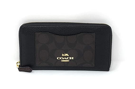 668a94f793c5 Image Unavailable. Image not available for. Color  COACH F31612 ACCORDION  ZIP WALLET IN SIGNATURE CANVAS COLORBLOCK