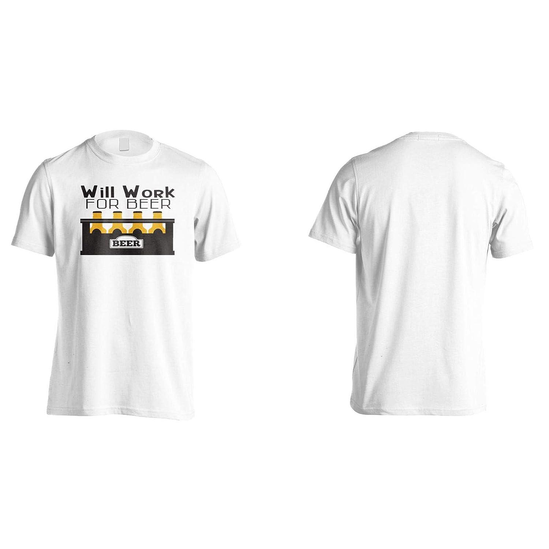 INNOGLEN Will Work Beer Mens T-Shirt Tee gg491m