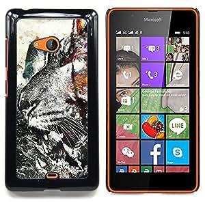 Ihec Tech Modelo del tigre del Grunge;;;;;;;; / Funda Case back Cover guard / for Nokia Lumia 540