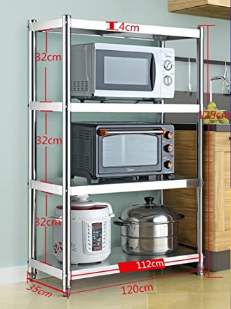 Amazon.com: Large Microwave Stand With Cabinets Toaster Oven ...