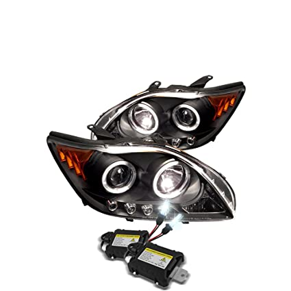 Scion Tc Headlights >> Low Beam 6000k Slim Xenon Hid Kit Scion Tc Projector Headlights Led Halo Replaceable Leds Black Housing With Clear Lens