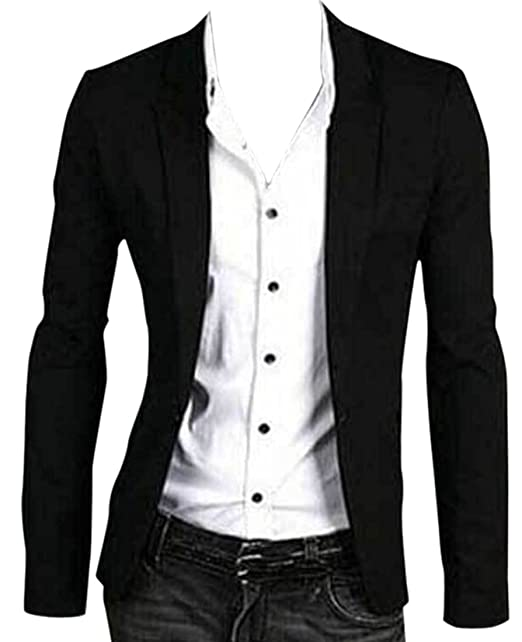 new images of 2018 shoes special for shoe GAGA Mens Business Suit Blazers One Button