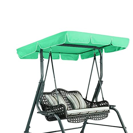125cm for Patio Outdoor 3 Seater Swing Chair dDanke UV Resistant Rainproof Garden Swing Chair Replacement Canopy Cover 195