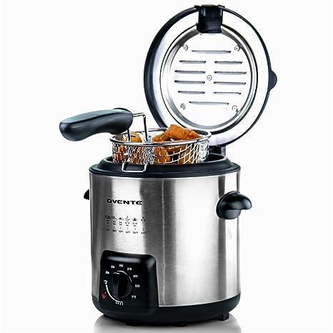 Amazon.com: Ovente FDM1091BR - Mini freidora con cesta ...