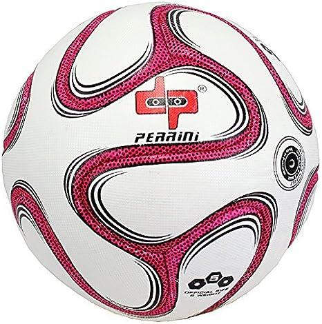 Perrini Oficial Tamaño 5 Brazuca Balón de Fútbol Rosa: Amazon.es ...
