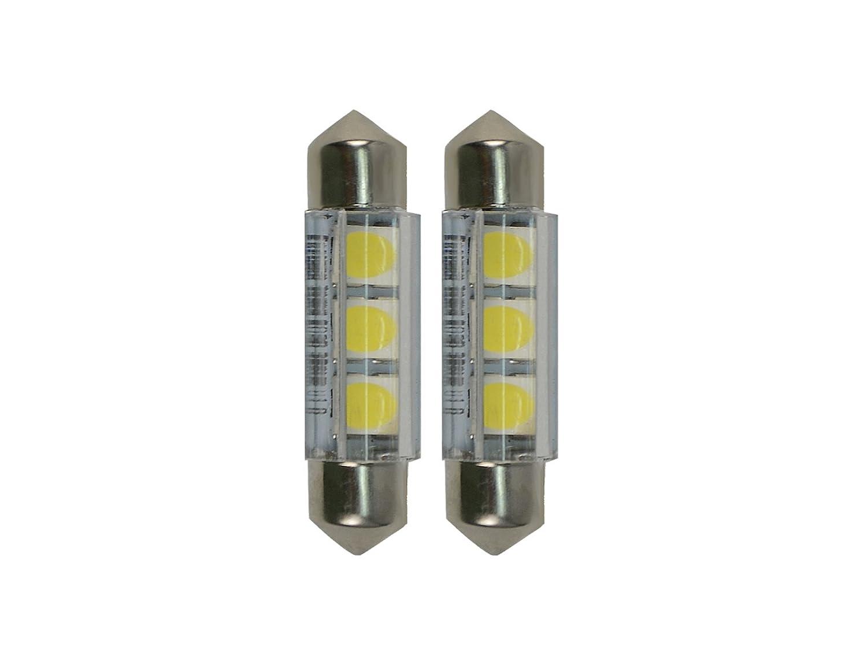 Njytouch 6pcs 43/mm 44/mm 3SMD LED 5050/211/rosso siluro mappa interni lampadine lampada DC 12/V